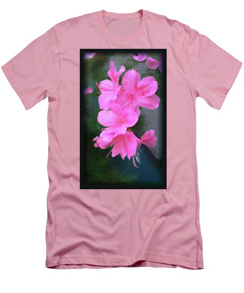 Azalea Spray Men's T-Shirt (Slim Fit) by Ginny Schmidt