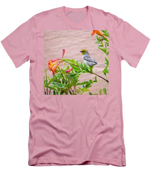 Men's T-Shirt (Slim Fit) featuring the photograph Backyard Verdin by Dan McManus