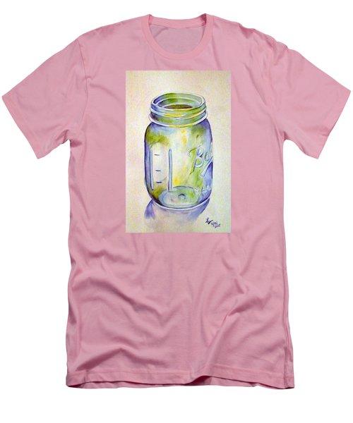 Ball Mason Jar Men's T-Shirt (Slim Fit) by Loretta Nash