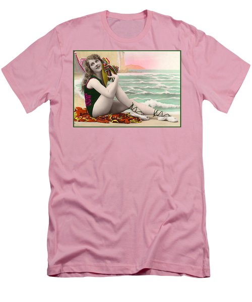 Bathing Beauty On The Shore Bathing Suit Men's T-Shirt (Athletic Fit)