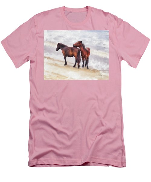 Men's T-Shirt (Slim Fit) featuring the photograph Beach Buddies by Lois Bryan