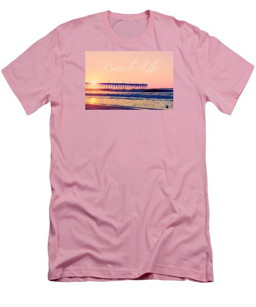 Men's T-Shirt (Slim Fit) featuring the photograph Beach Life by Kelly Nowak