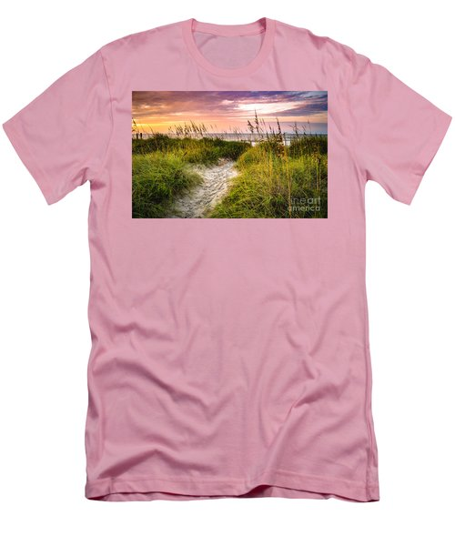 Beach Path Sunrise Men's T-Shirt (Slim Fit)