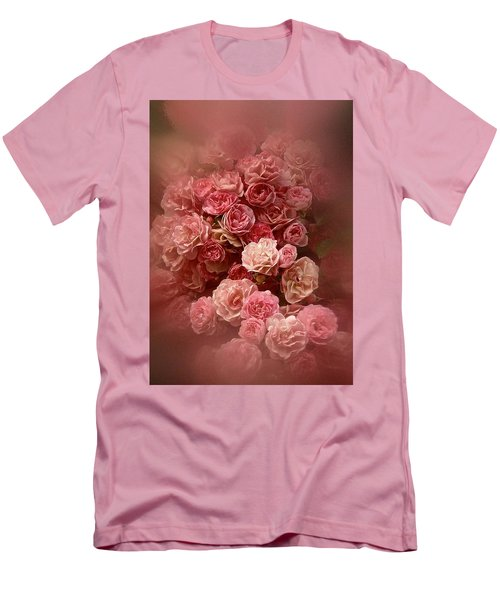 Men's T-Shirt (Slim Fit) featuring the photograph Beautiful Roses 2016 by Richard Cummings