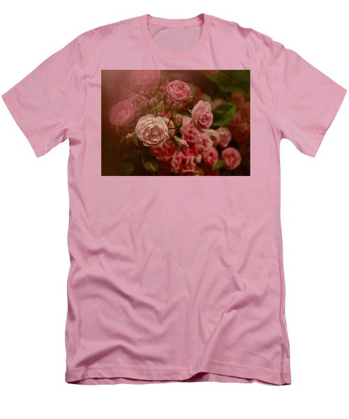 Men's T-Shirt (Slim Fit) featuring the photograph Beautiful Roses 2016 No. 2 by Richard Cummings