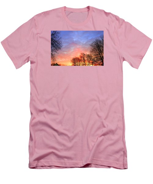 Beautiful Sunrise After Blizzard  Men's T-Shirt (Slim Fit) by Yumi Johnson