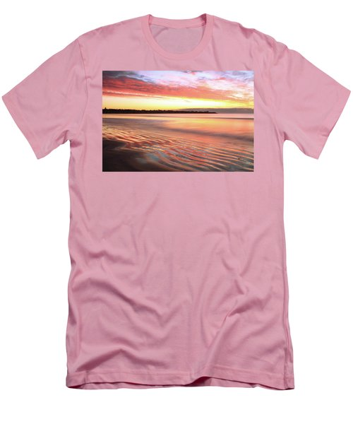 Before Sunrise At First Beach Men's T-Shirt (Athletic Fit)