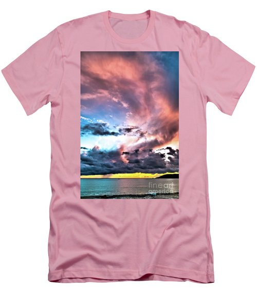 Before The Storm Avila Bay Men's T-Shirt (Slim Fit) by Vivian Krug Cotton