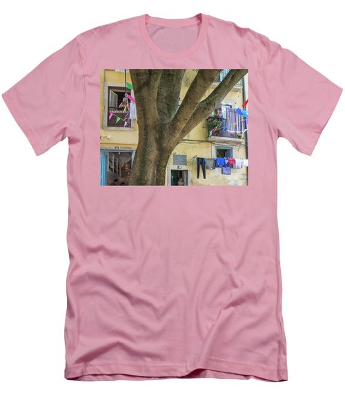 Men's T-Shirt (Slim Fit) featuring the photograph Behind The Tree by Patricia Schaefer