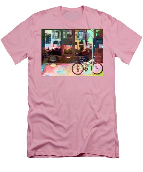 Men's T-Shirt (Slim Fit) featuring the digital art Bike Ride To Runyons by Susan Stone