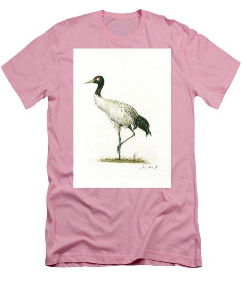 Black Necked Crane Men's T-Shirt (Athletic Fit)