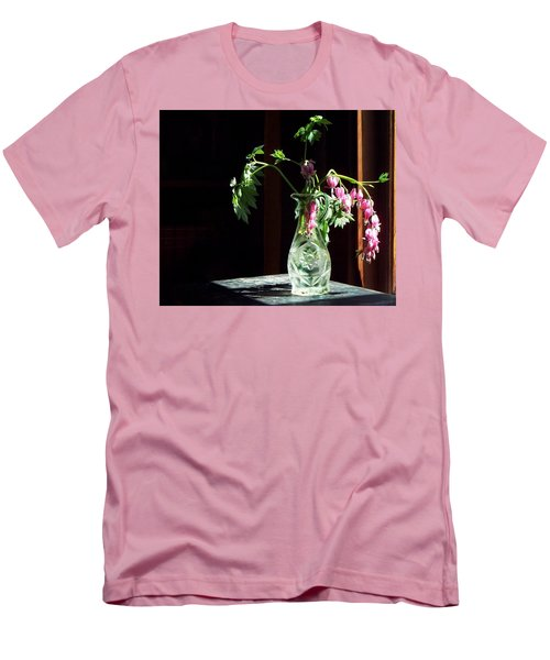Men's T-Shirt (Slim Fit) featuring the photograph Bleeding Heart Bouquet by Joy Nichols