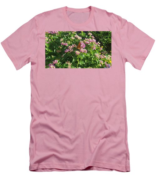 Blossoms And Wings #2 Men's T-Shirt (Slim Fit) by Rachel Hannah