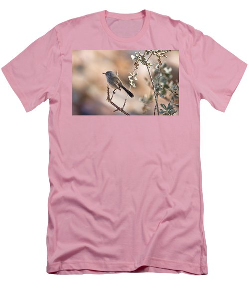 Men's T-Shirt (Slim Fit) featuring the photograph Black-tailed Gnatcatcher by Dan McManus