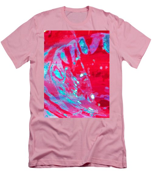 Blue Splash Men's T-Shirt (Slim Fit) by Samantha Thome