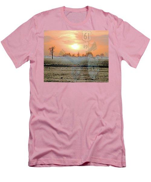 Blues Trail Men's T-Shirt (Slim Fit) by Lizi Beard-Ward