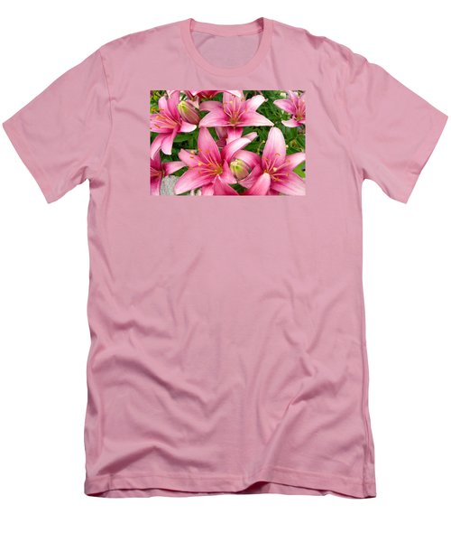 Blush Of The Blossoms Men's T-Shirt (Slim Fit) by Randy Rosenberger