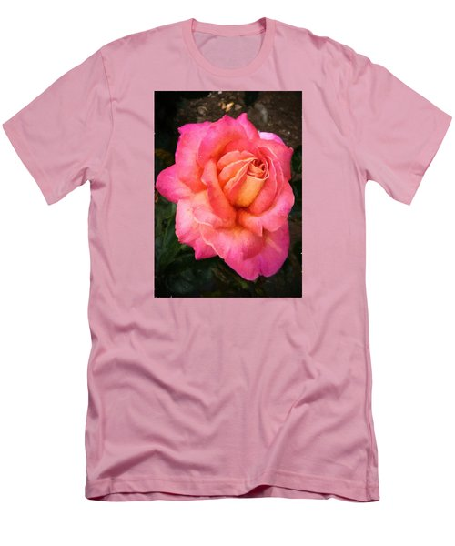 Blushing Rose Men's T-Shirt (Athletic Fit)