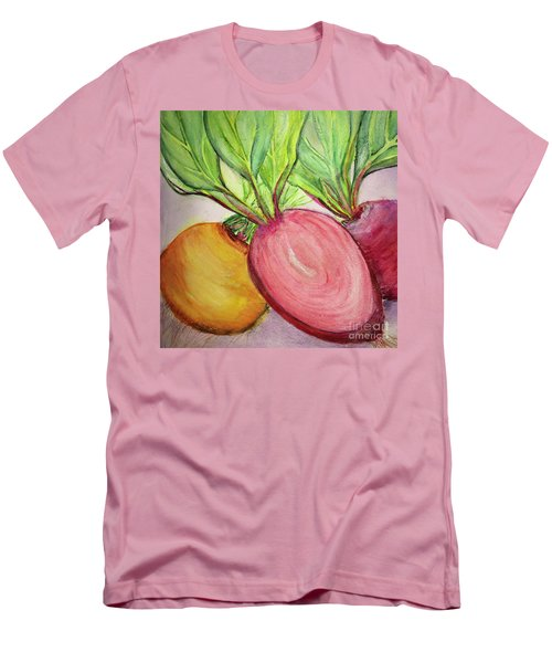 Men's T-Shirt (Slim Fit) featuring the painting Bold Beets by Kim Nelson