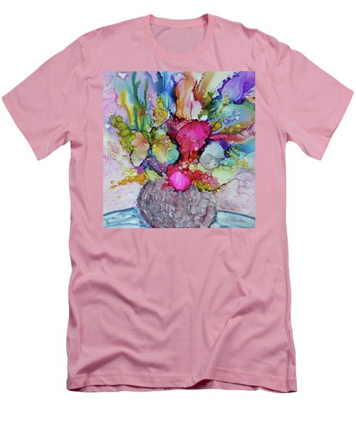 Men's T-Shirt (Slim Fit) featuring the painting Bouquet In Pastel by Joanne Smoley