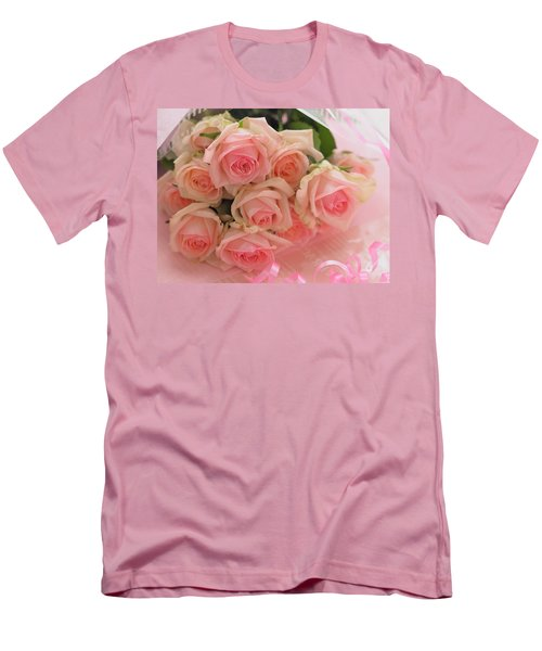 Bouquet Of Sweetness Men's T-Shirt (Slim Fit) by Rachel Mirror