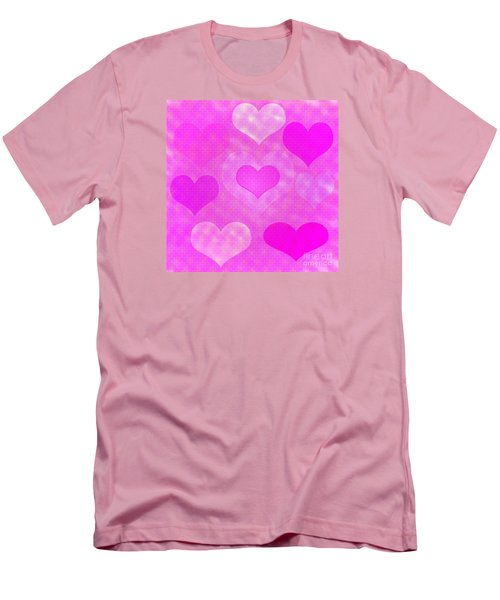 Brick Hearts Men's T-Shirt (Athletic Fit)