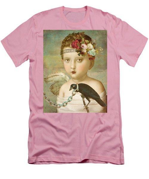 Men's T-Shirt (Slim Fit) featuring the digital art Broken Wing by Lisa Noneman