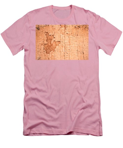 Men's T-Shirt (Slim Fit) featuring the photograph Brown Paint Texture by John Williams