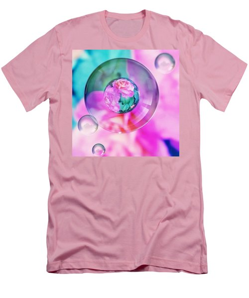 Bubble Roses Men's T-Shirt (Slim Fit) by Anna Porter