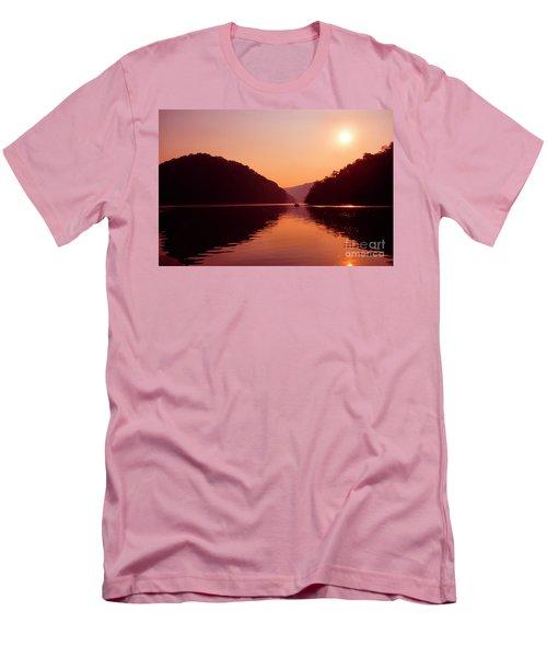 Men's T-Shirt (Slim Fit) featuring the photograph Buckhorn Lake Sunset by Thomas R Fletcher