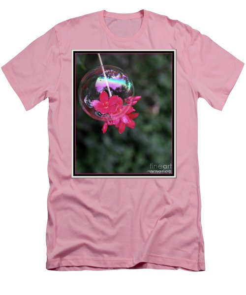 Men's T-Shirt (Slim Fit) featuring the photograph Bursting Free by Irma BACKELANT GALLERIES