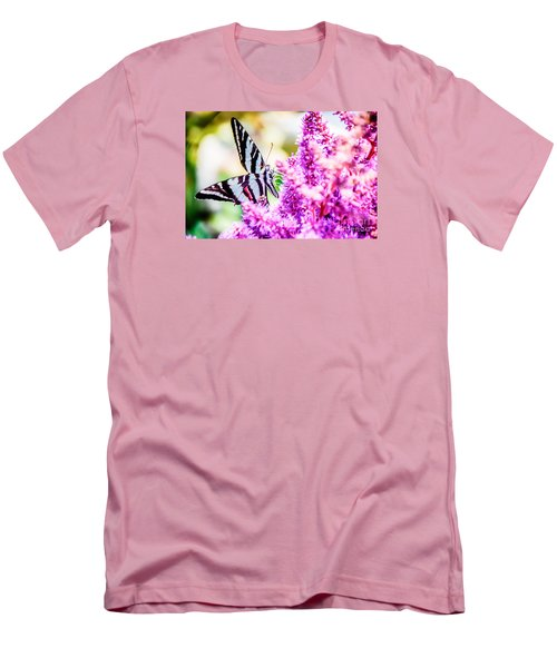 Butterfly Beautiful  Men's T-Shirt (Slim Fit) by Peggy Franz