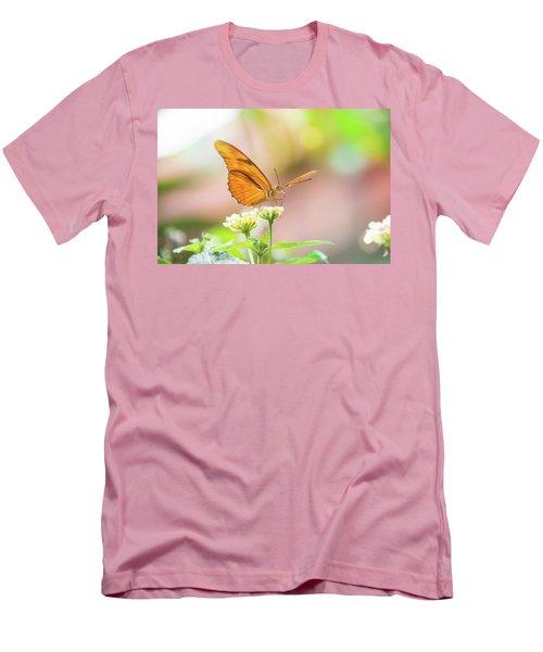 Butterfly - Julie Heliconian Men's T-Shirt (Slim Fit) by Pamela Williams