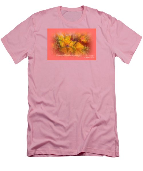 Men's T-Shirt (Slim Fit) featuring the digital art Butterfly Of Love And Peace by Sherri  Of Palm Springs