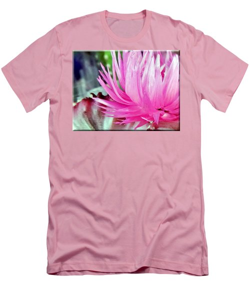 Cactus Flower Men's T-Shirt (Slim Fit) by Mikki Cucuzzo