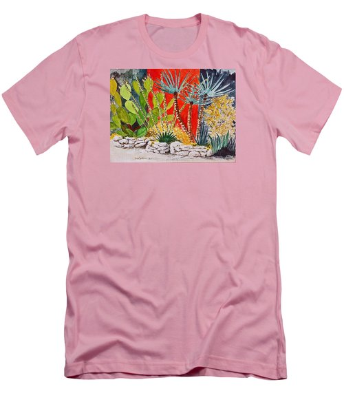 Cactus Garden  Men's T-Shirt (Slim Fit) by Fred Jinkins