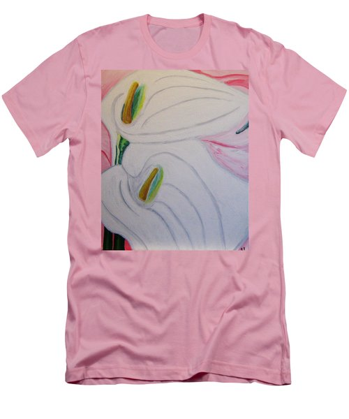 Cala Lillies Men's T-Shirt (Slim Fit) by Barbara Yearty