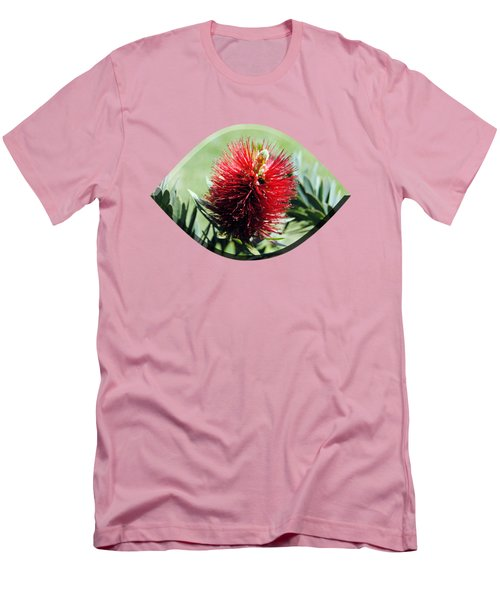 Callistemon - Bottle Brush T-shirt 7 Men's T-Shirt (Slim Fit) by Isam Awad