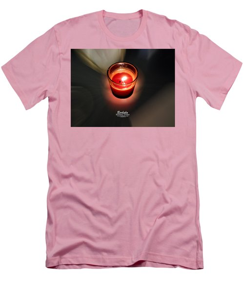 Candle Inspired #1173-3 Men's T-Shirt (Slim Fit) by Barbara Tristan