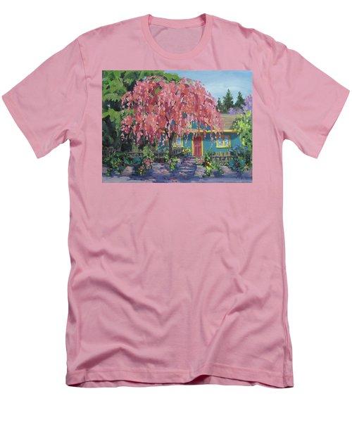 Candy Tree Men's T-Shirt (Slim Fit) by Karen Ilari