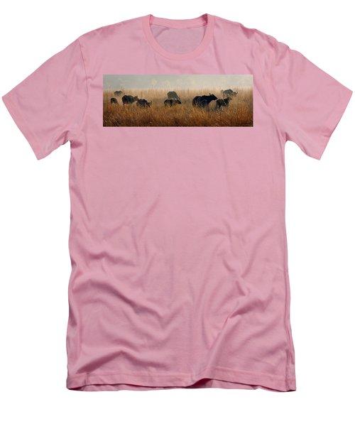 Cape Buffalo Herd Men's T-Shirt (Slim Fit) by Joe Bonita