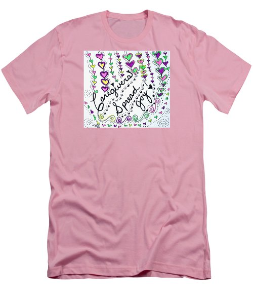 Caregivers Spread Joy Men's T-Shirt (Slim Fit) by Carole Brecht