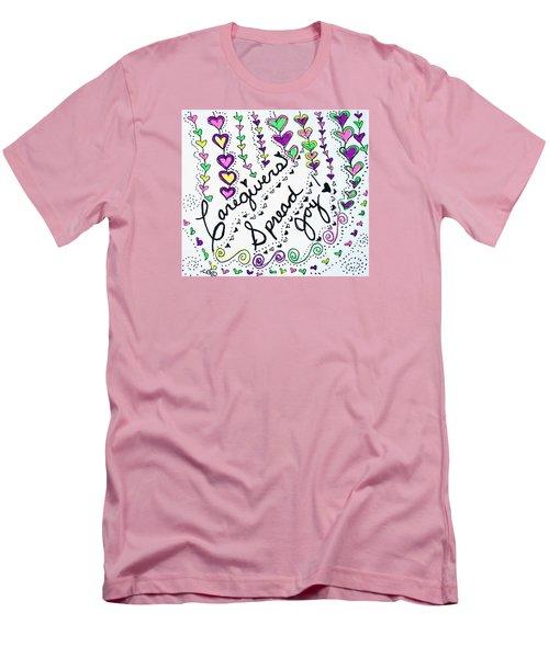 Caregivers Spread Joy Men's T-Shirt (Athletic Fit)