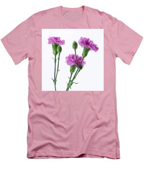 Carnations Three Lavender Men's T-Shirt (Athletic Fit)