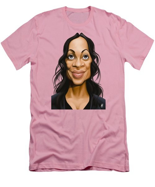 Celebrity Sunday - Rosario Dawson Men's T-Shirt (Athletic Fit)