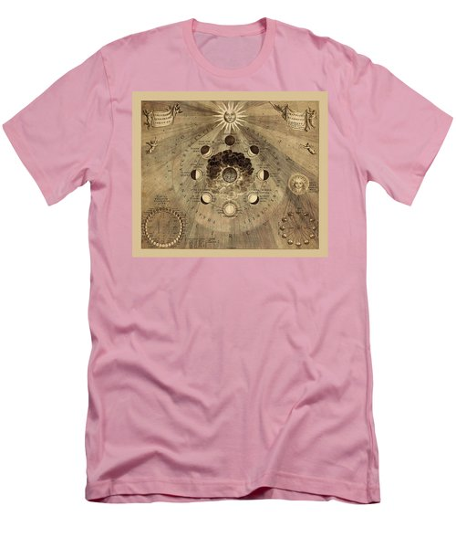 Celestial Map 1710b Men's T-Shirt (Slim Fit) by Andrew Fare