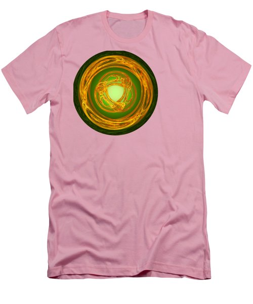 Men's T-Shirt (Slim Fit) featuring the digital art Celtic Abstract On Green by Jane McIlroy