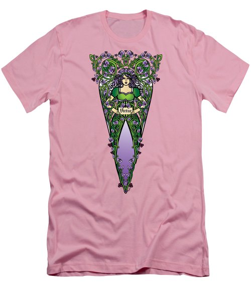Celtic Forest Fairy - Virtue Men's T-Shirt (Athletic Fit)