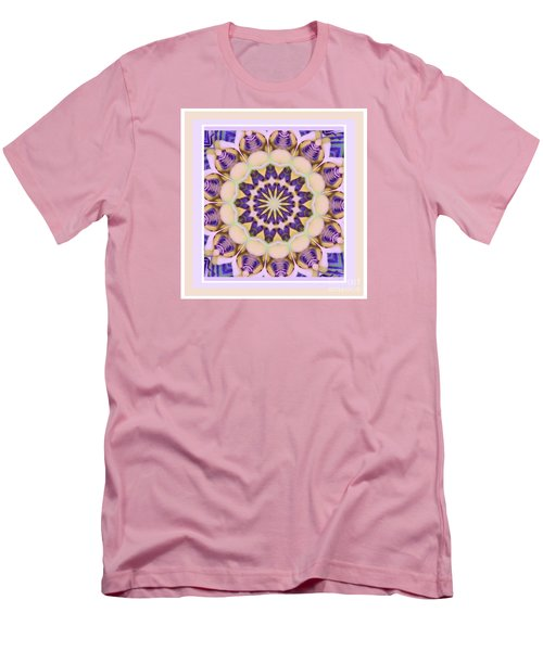Center Of Passion Flower Men's T-Shirt (Athletic Fit)