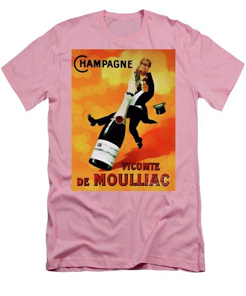 Champagne Celebration Men's T-Shirt (Slim Fit) by Ian Gledhill